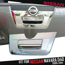 CHROME TAIL GATE TAILGATE HANDLE COVER FIT NISSAN FRONTIER NAVARA D40 2005 - 13