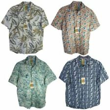 Regular Size Short Sleeve Button-Front Casual Shirts for Men