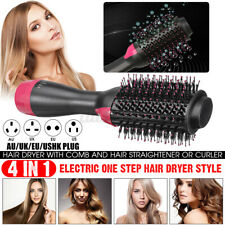 3 In1 One Step Hair Dryer and Volumizer Brush Straightening Curling Iron Com