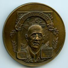 France Bronze Art Medal General Charles De Gaulle 60mm 80g