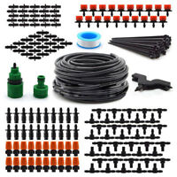 49 FT Hose Micro Drip Irrigation System Plant Self Watering Garden Drippers Kit
