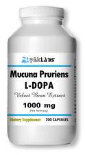 Mucuna Pruriens Extract 1000mg L-Dopa Velvet Bean 200 Capsules Big Bottle PAKLAB