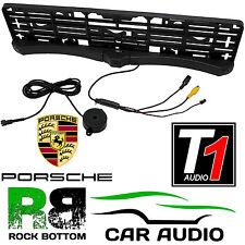 2 Reverse Parking Sensors & Rear Camera Car Number Plate Surround for PORSCHE