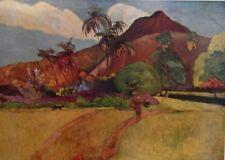Tahitian Landscape (MINI PRINT) By Paul Gauguin