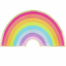 Rainbow Party Plates with Gold Foil 48PC for Theme Parties, Kids Birthdays Party