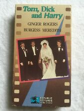 Tom, Dick and Harry (Prev. Viewed VHS) Ginger Rogers, Burgess Meredith RARE HTF