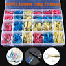 480 x ASSORTED INSULATED ELECTRICAL WIRE TERMINALS CRIMP CONNECTORS SPADE KIT UK