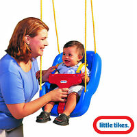 Little Tikes 2-In-1 Snug 'N Secure Swing Blue Outdoor Indoor Kids Seat Children