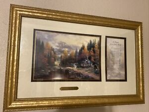Thomas Kinkade The Valley of Peace With A Prayer For a Little Home NO PAPERWORK
