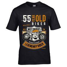 55 year Old Legendary Biker Vintage motorcycle mens t-shirt 55th birthday gift