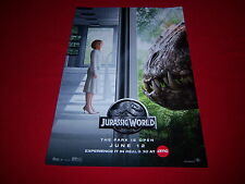 (3) new JURASSIC WORLD promo posters - THE PARK IS OPEN - licensed - 11X17 - NEW