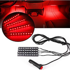 4x Red Car Charge LED Interior Light Atmosphere Decorative Floor LED Decor Lamp