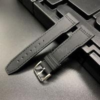 Black Fablic Leather Slim Short Strap for IWC Big Top Gun Pilot Portuguese Watch
