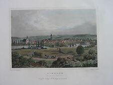EINBECK  von der Nord-West-Seite  kolorierter Stahlstich 1858   A. Hornemann
