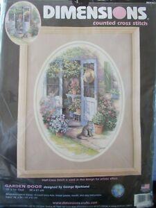 "Cross stitch Kit "" Garden Door "" By Dimensions"