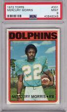 1972 Topps #331 Mercury Morris PSA 9 Dolphins