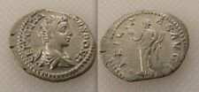 Ancient ROMAN GETA SILVER denarius MEDAGLIA (come Cesare annuncio 198-209) Felicity Caduceus