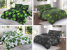 Cannabis Weed Duvet Quilt Cover Bedding Set Single Double King Green Black White