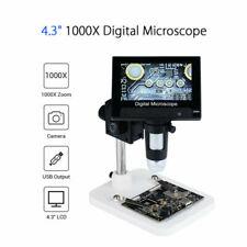 Digital Microscope 1 1000x Fhd Lcd 43 Inch Video Endoscope Camera Magnifier Us
