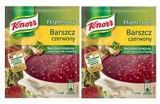 2 Packs Knorr Red Borsch Instant, Ekspresowy Barszcz czerwony 2x53g, Beetroot