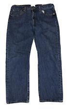 Levi's 501XX Men's Dark Blue Button Fly Straight Leg Denim Jeans Size 38 X 30