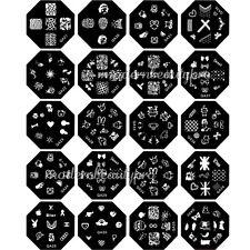 Random 5 Pcs Stamp Metal Patterns Image Plate For DIY Design Nail Art Tool