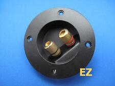Speaker TERMINAL Plate With 2x Gold Binding Post Banana Plug Connector R278
