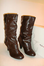Style & Co Womens NWB Zippity Dark Brown Boots Shoes 8 MED NEW