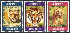 Bangladesh 1974 Tigers/Cats/Animals/Nature/Wildlife/Conservation 3v set (s4369)