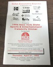 1994 New York State Sports & Entertainment Celebrity Dinner Program 040414ame2