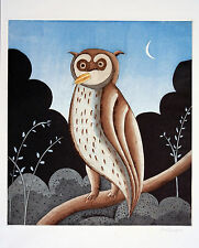 "Thomas McKnight ""Owl"" Hand Signed Limited Ed. Etching"
