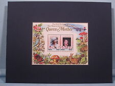 Elizabeth, The Queen Mother and mother of Elizabeth II  & souvenir sheet