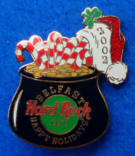 BELFAST IRISH XMAS GOLD COINS & CANDY CANE BLACK CAULDRON POT Hard Rock Cafe PIN