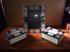 Stainded Glass Picture Frame and 2 Trinket Boxes