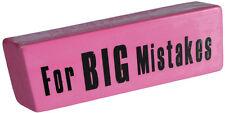 Radiergummi XXL Riesen Jumbo Radierer 15cm Briefbeschwerer For Big Mistakes NEU