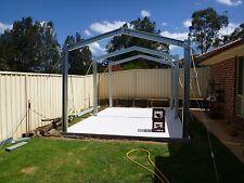 7.5m wide Portal Frame Shed 6inch/150mm C Section Purlin Brackets-Garage or Farm