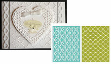 Whimsy Embossing Folders Lifestyle Crafts Ef0002 all occasion folder 2PC set