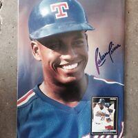 RUBEN SIERRA Texas Rangers Autographed Becket Back Cover  Holo