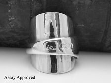 BEAUTIFUL CHUNKY SOLID STERLING SILVER SPOON RING - SIZE O½
