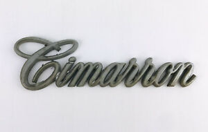 "Vintage Car CADILLAC CIMARRON  EMBLEM ORNAMENT "" cimarron ""  plastic"