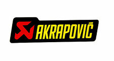 Akrapovic Street Auspuff Aufkleber Hitzefest 45mmx150mm