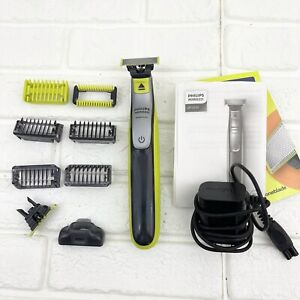 Philips Norelco OneBlade Face + Body Shaver Stubble Combs QP2630/70 *USED READ*