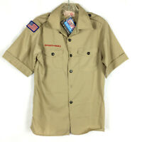 Boy Scouts Class A Youth Large of America Official Uniform Shirt Khaki BSA New