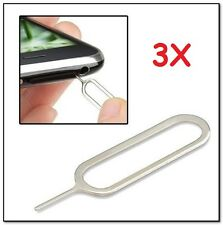 USA! 3x Sim Card Tray Remover Eject Pin Key Universal Tool iPhone X Nexus