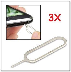 USA! 3x Sim Card Tray Remover Eject Pin Key Universal Tool iPhone X 11 Nexus