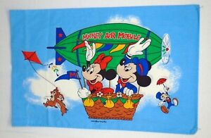 Vintage Mickey Mouse Air Mobile Pillow Case Jiminy Cricket Chip Dale Pacific
