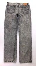 U117 VTG USA Levi's 501 Black Acid Wash Straight Jeans Tag sz 36x34 (Mea 34x33)