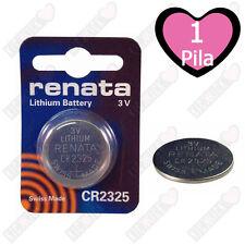1 CR2325 Renata Batteria, Pila al Litio Diossido di manganese, 190 mAh, 3V