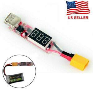 2S-6S Lithium Lipo Battery XT60 Plug to USB 5V Charger Converter Module Adapter