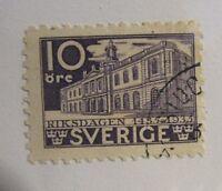 SWEDEN SVERIGE Scott #240 Θ used 10 ore architecture postage stamp